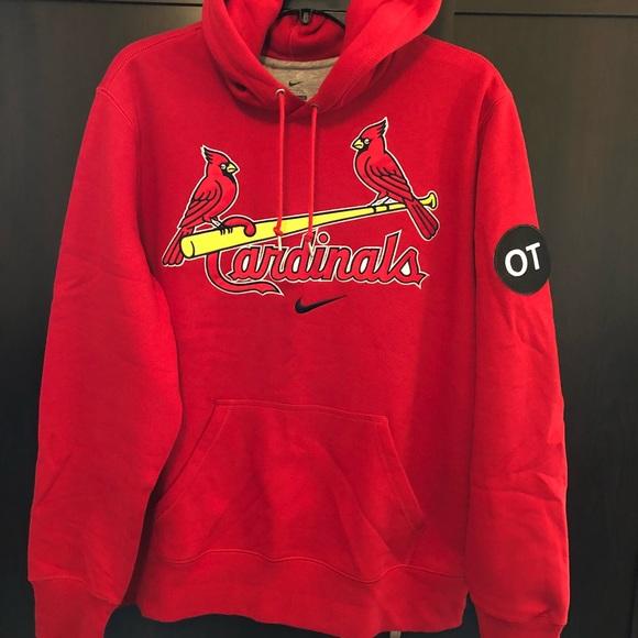 online store db5df d1c35 Nike St. Louis Cardinals hoodie OT patch size L